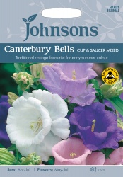 Canterbury Bells Seeds 'Cup & Saucer Mixed by Johnsons