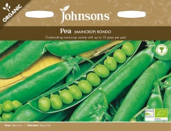 Organic Pea Seeds Rondo by Johnsons