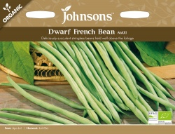 Organic Dwarf French Bean Seeds Maxi by Johnsons