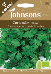 Organic Coriander Seeds Cilantro For Leaf by Johnsons