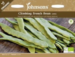 Organic French Bean Seeds (Climbing) Limka by Johnsons