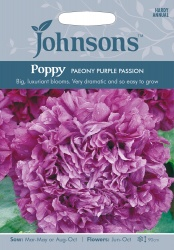 Poppy 'Paeony Purple Passion' Seeds by Johnsons