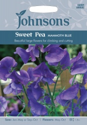 Sweet Pea 'Mammoth Blue' Seeds by Johnsons