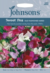 Sweet Pea 'Old Fashioned Mixed' Seeds by Johnsons