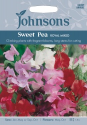 Sweet Pea 'Royal Mixed' Seeds by Johnsons