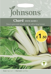 Chard 'White Silver 2' Seeds by Johnsons