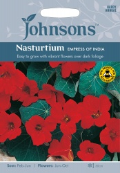 Nasturtium Seeds 'Empress Of India' by Johnsons