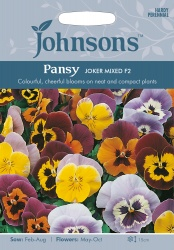 Pansy Seeds 'Joker Mixed F2' by Johnsons