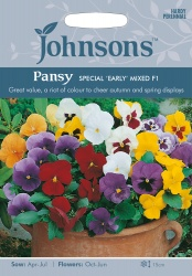 Pansy Seeds 'Special Early Mixed' by Johnsons