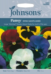 Pansy 'Swiss Giants' Seeds by Johnsons