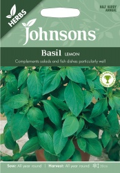 Basil 'Lemon' Seeds by Johnsons