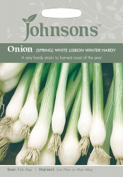 Spring Onion Seeds 'White Lisbon Winter Hardy' by Johnsons