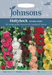 Hollyhock Seeds 'Double Mixed' by Johnsons