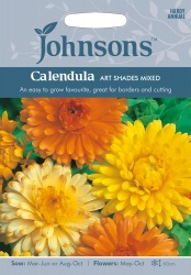 Calendula 'Art Shades Mixed' by Johnsons