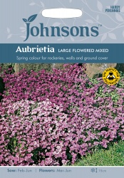 Aubrietia 'Large Flowered Mixed' Seeds by Johnsons
