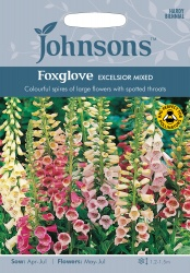 Foxglove 'Excelsior Mixed' Seeds by Johnsons