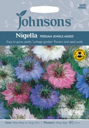 Nigella Seeds 'Persian Jewels Mixed' by Johnsons