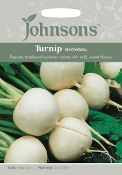 Turnip Seeds 'Snowball' by Johnsons