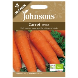 Organic Carrot Seeds 'Rothild' by Johnsons