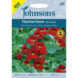 Nasturtium 'Red Troika' - Johnson's Seeds