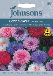 Cornflower 'Double Mixed' Seeds by Johnsons