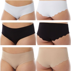 Microfibre Laser Cut Seamless Ladies Briefs