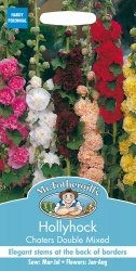 Hollyhock Seeds 'Chaters Double Mixed' by Mr Fothergills