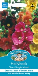 Hollyhock Seeds Giant Single Mixed by Mr Fothergills