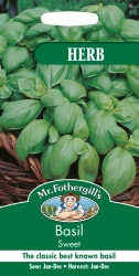Basil Seeds Sweet By Mr Fothergills