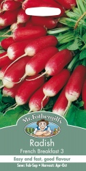 Radish Seeds French Breakfast 3 by Mr Fothergills