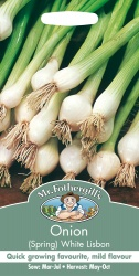 Spring Onion Seeds White Lisbon by Mr Fothergill's