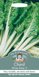 Chard Seeds White Silver 2 by Mr Fothergills