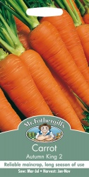 Carrot Seeds Autumn King 2 by Mr Fothergill's