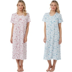 Marlon Botanical Short Sleeve Cotton Nightdress