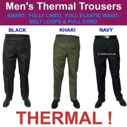 Thermal Elastic Waist Men's Trousers