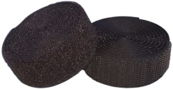 Sew On Hook & Loop Tape - Black 20mm Wide In Various Lengths