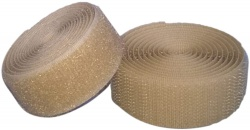 Sew On Hook & Loop Tape - Stone (Beige) 20mm Wide In Various Lengths