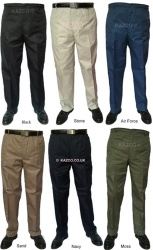 Men's Elastic Waist Trousers 32'' to 60'' Waist
